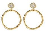 Amrita Singh Crystal Twisted Circle Earrings.