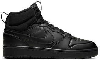 Nike Kids Court Borough Mid 2 Boot Trainers in Leather