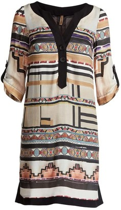 Patterned Sack Dress By Conquista