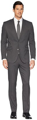 Kenneth Cole Reaction Slim Fit Stretch Performance 32 Finished Bottom Suit (Blue) Men's Dress Pants