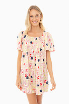 Mii Pink La Salade Grecque Printed Short Dress