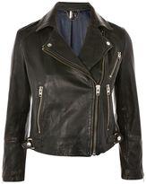 Topshop PETITE Daze Washed Biker Jacket