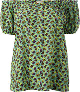 Etro off shoulder printed top - women - Silk - 44