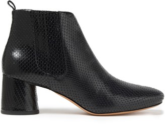 Marc Jacobs Snake-effect Leather Ankle Boots