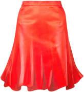 Moschino pleated flared skirt
