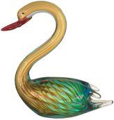 """Dale Tiffany Dale TiffanyTM 9-1/2"""" Swan Art Glass Figurine"""