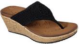 Skechers Women's Beverlee Fancy Work Wedge Thong Sandal