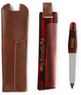 Buly 1803 Horn-effect Acetate Comb And Nail File Travel Kit