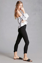 Forever 21 FOREVER 21+ Stretch-Knit Raw-Cut Pants