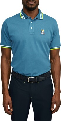 Psycho Bunny Woburn Tipped Short Sleeve Pique Polo