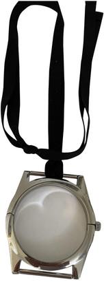 Maison Martin Margiela Pour H&m Silver Metal Necklaces