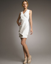J. Mendel Wrapped Tier-Hem Dress