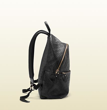 Gucci Guccissima Leather Zip Backpack