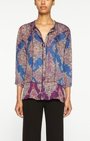 Nicole Miller Arabesque Button Down Blouse