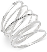 INC International Concepts Silver-Tone 5-Pc. Crystal-Detail Bangle Bracelet Set, Only at Macy's