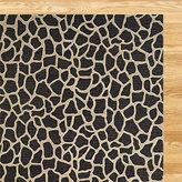 Giraffe Tufted Wool Rug, Black