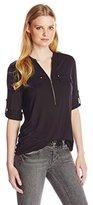 Calvin Klein Women's Zipper Front Roll Sleeve