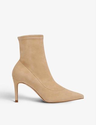 LK Bennett Allie stretch-suede ankle boot