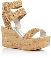 Donald J Pliner Cyndi Cork Ankle Strap Platform Wedge Sandals
