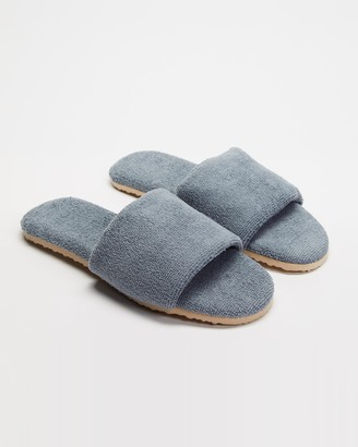 Staple Superior - Grey Sandals - Casablanca Terry Towelling Slides - Size M8/W10 at The Iconic