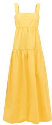 Three Graces London Cosette Organic Cotton-poplin Maxi Dress - Womens - Yellow