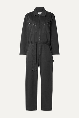 IRO Flories Belted Denim Jumpsuit - Charcoal
