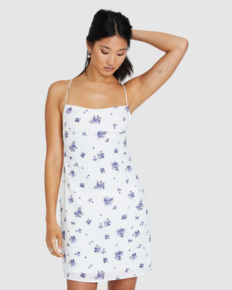 Alice In The Eve Forget Me Not Linen Mini Dress