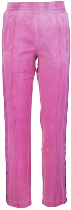 Palm Angels Bubble Pink Woman Joggers With Logo