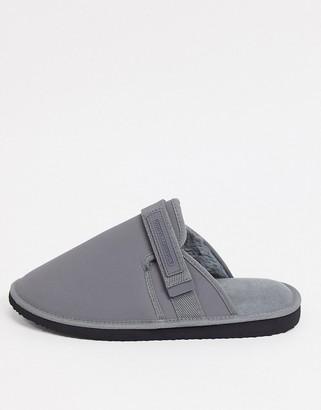 ASOS Unrvlld Supply slip-on tech slippers in grey