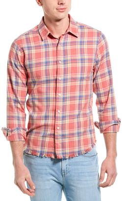 Frame Frayed Hem Flannel Shirt