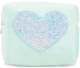 Forever 21 Heart Fleece Makeup Bag
