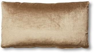 One Kings Lane Ada Long Lumbar Pillow - Putty Velvet - 12x23