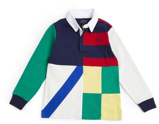 Ralph Lauren Kids Patchwork Polo Pony Rugby Shirt (5-7 Years)