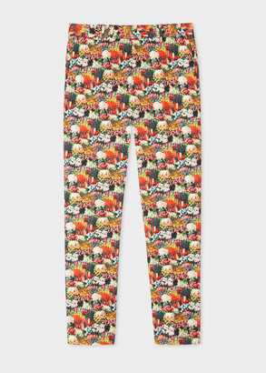 Men's Tapered-Fit 'Seed Packet' Print Trousers