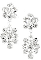 Cezanne Rhinestone Deco Fan Drop Statement Earrings