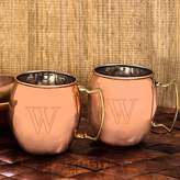 Cathy's Concepts Cathys concepts 2-pc. Monogram Copper Moscow Mule Mug Set