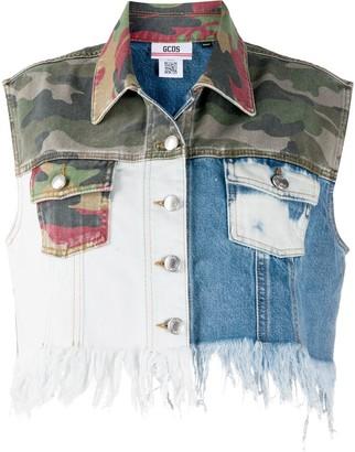 GCDS Patchwork Cropped Vest