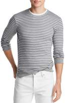 The Men's Store at Bloomingdale's Tri-Color Striped Crewneck Sweater - 100% Exclusive