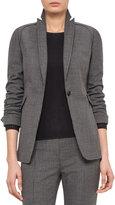 Akris Punto Mini-Houndstooth One-Button Jacket, Coal