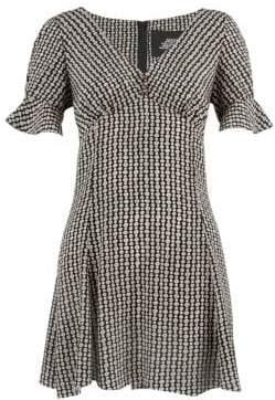 Marc Jacobs Women's Redux Grunge Flower Chain Silk Mini Dress - Black Multi - Size 8