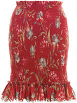 Zimmermann Corsair Iris Shirred Skirt