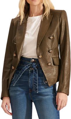 Veronica Beard Cooke Leather Dicky Jacket