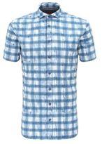 HUGO BOSS Cotton Short Sleeve Sport Shirt, Slim Fit Catitude Short SBlue