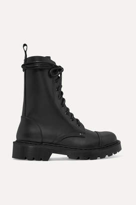 Vetements Lace-up Leather Ankle Boots - Black
