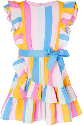 Monsoon Girls S.E.W. Candy Stripe Dress - Multi