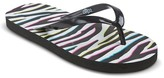 Circo Flip Flop Sandals Black/White