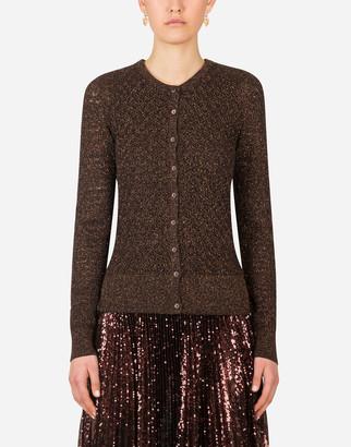 Dolce & Gabbana Cardigan In Lurex Lace