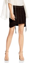 Haute Hippie Earth Wind & Fire Studded Suede Skirt