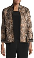 Caroline Rose Glazed Paisley Jacket, Plus Size