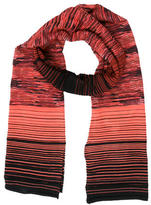 M Missoni Striped Wool-Blend Scarf w/ Tags
